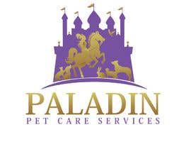 #52 for logo for Paladin Pet Care Services. A Pet Sitting & Dog Walking business. Would like a female knight riding a horse to feature. Must also include a dog, a cat & other pets. Looking for a unique, sophisticated logo with a royal flavour. by flyhy