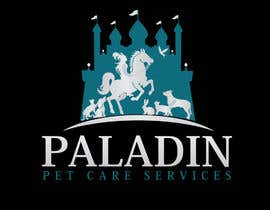 #53 for logo for Paladin Pet Care Services. A Pet Sitting & Dog Walking business. Would like a female knight riding a horse to feature. Must also include a dog, a cat & other pets. Looking for a unique, sophisticated logo with a royal flavour. by flyhy