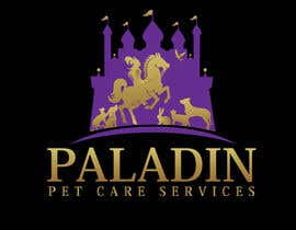 #62 for logo for Paladin Pet Care Services. A Pet Sitting & Dog Walking business. Would like a female knight riding a horse to feature. Must also include a dog, a cat & other pets. Looking for a unique, sophisticated logo with a royal flavour. by flyhy