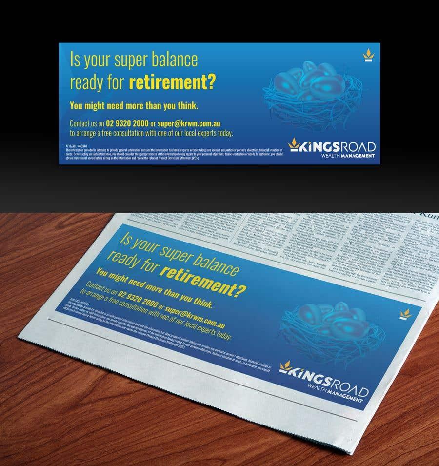 Penyertaan Peraduan #35 untuk Create a newspaper Ad