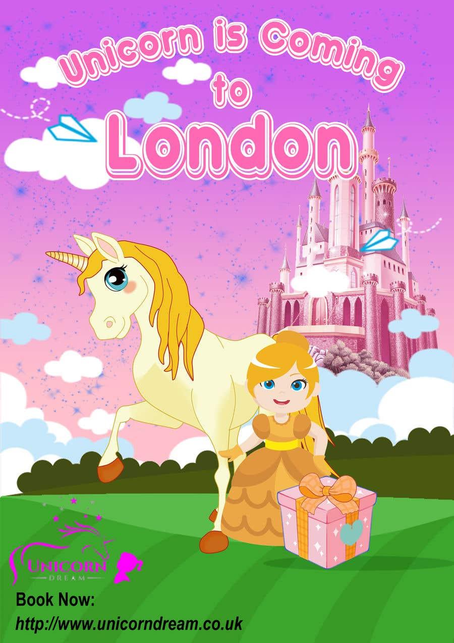 Kilpailutyö #29 kilpailussa Multiple Facebook and Istagram adverts needed kids Unicorn Event
