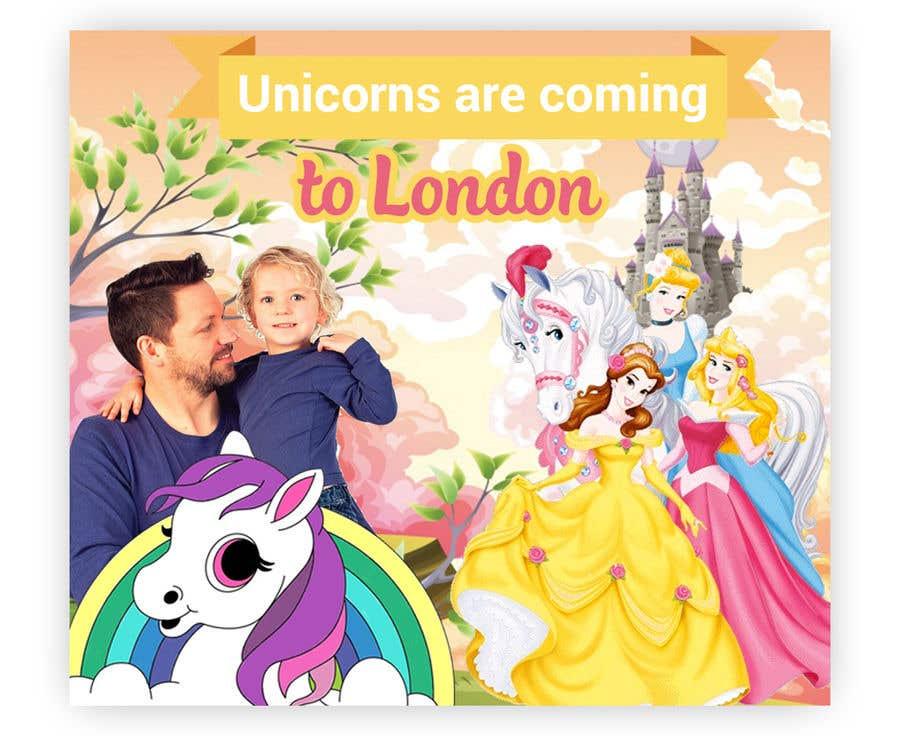 Kilpailutyö #31 kilpailussa Multiple Facebook and Istagram adverts needed kids Unicorn Event