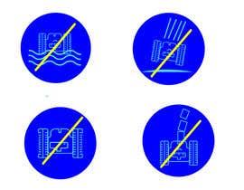 Nro 5 kilpailuun Create 4 Icons / warning symbols käyttäjältä JunaidFatyana