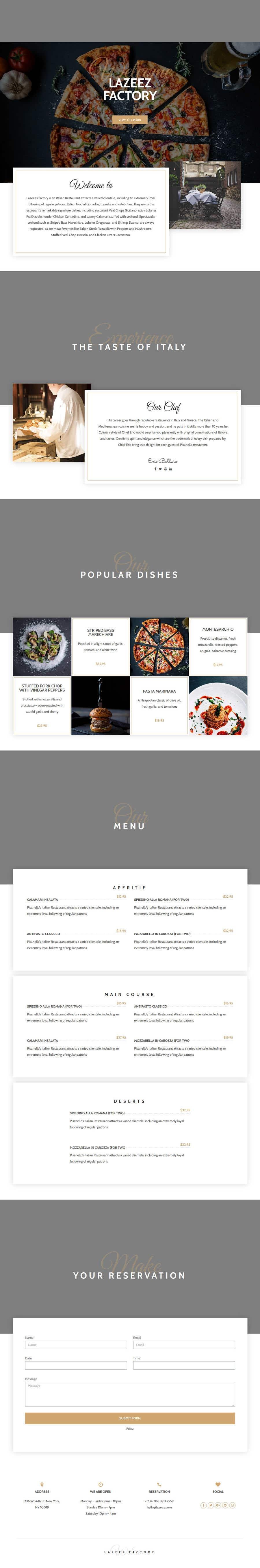 Penyertaan Peraduan #64 untuk Design A Website and Logo For Restaurant
