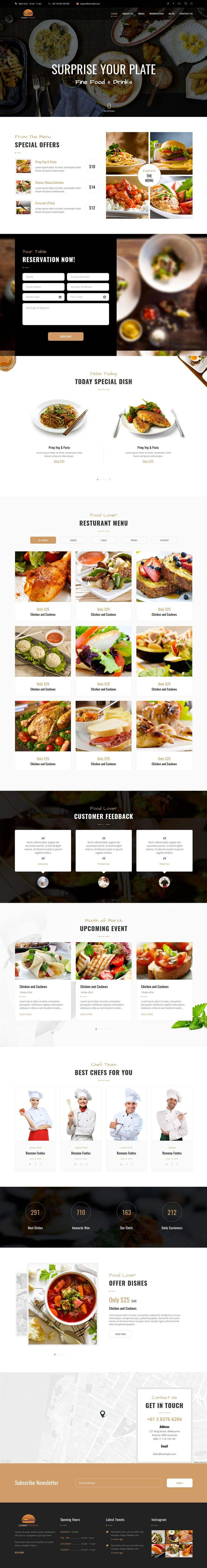 Konkurrenceindlæg #100 for Design A Website and Logo For Restaurant