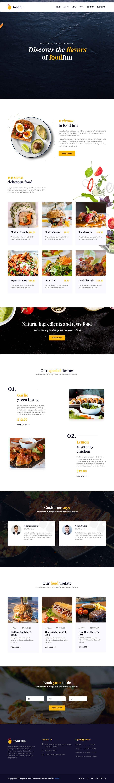 Конкурсная заявка №46 для Design A Website and Logo For Restaurant