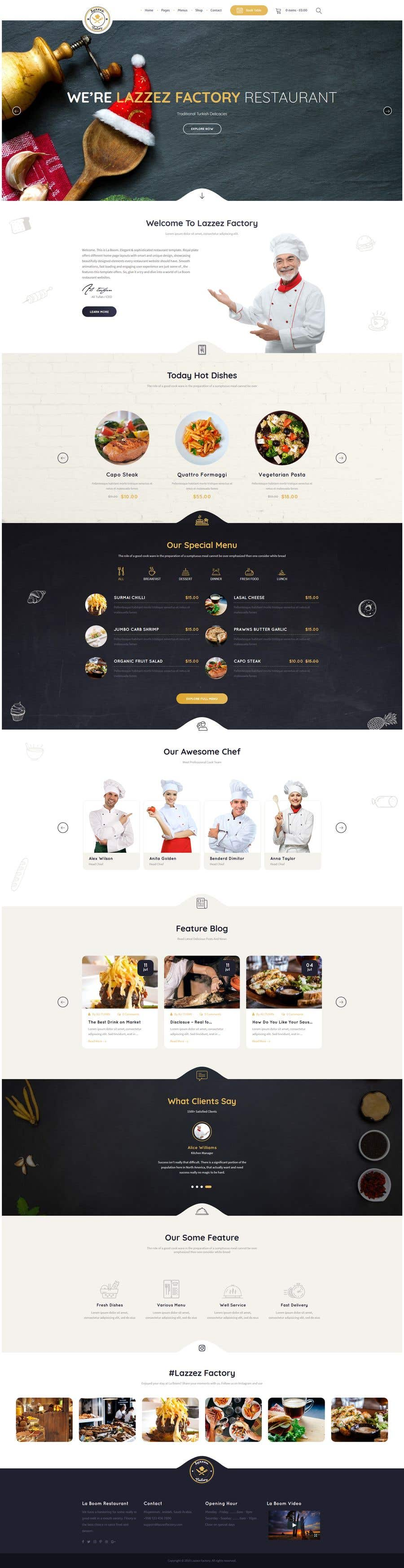 Конкурсная заявка №45 для Design A Website and Logo For Restaurant