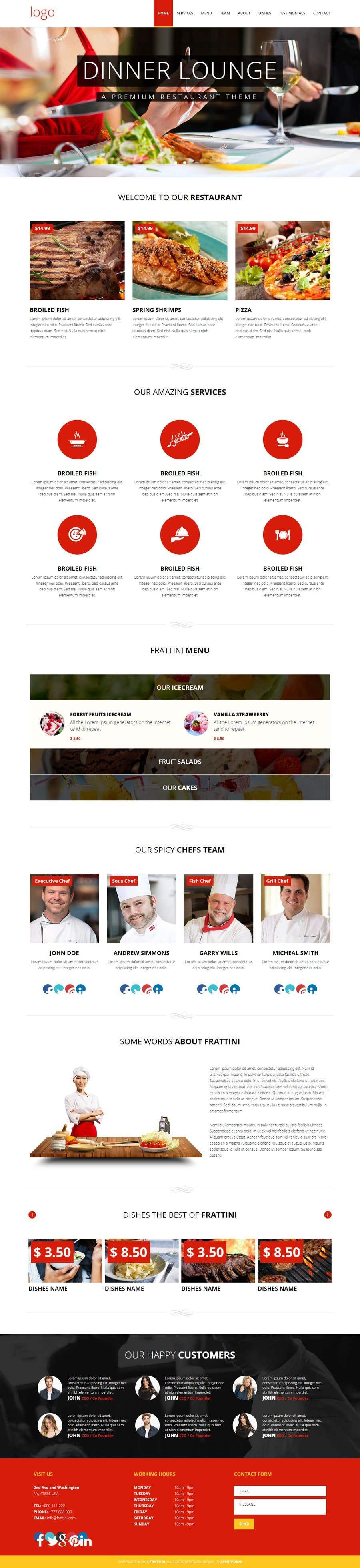Konkurrenceindlæg #3 for Design A Website and Logo For Restaurant