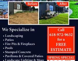 Nro 21 kilpailuun Design Print Ad For Landscaping Business käyttäjältä namrata134