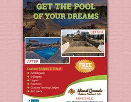 #32 para Design a print ad for pool business por forhaad