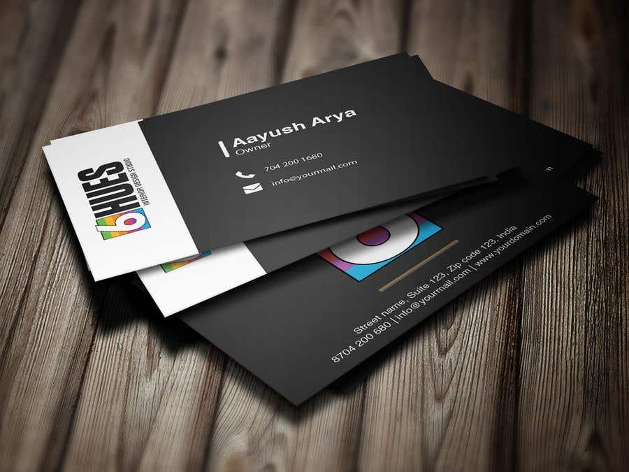 Entry 353 By Ripon99design For Design A Business Card For An Interior Design Company Freelancer
