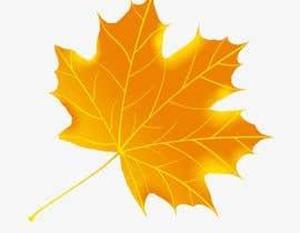 nº 7 pour Original icon for: Gold maple leaf 'in the wind' par Romdhonihabib