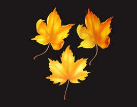 nº 41 pour Original icon for: Gold maple leaf 'in the wind' par Romdhonihabib