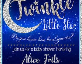 #16 untuk An Amazing twinkle twinkle little star baby shower invitation oleh marianayepez