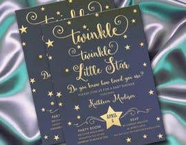 #17 untuk An Amazing twinkle twinkle little star baby shower invitation oleh adesign060208