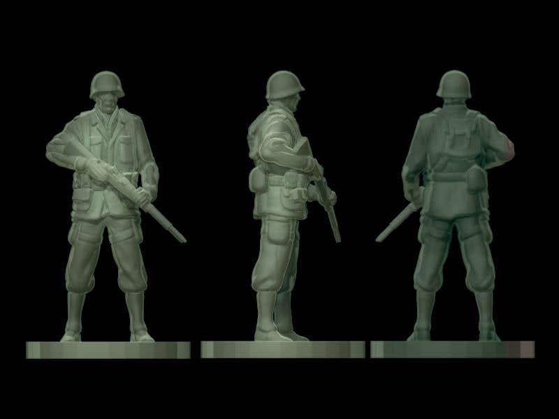 Inscrição nº 14 do Concurso para 3D Model Tiny Soldier Miniature