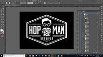 "Graphic Design Intrarea #3 pentru concursul ""As you can see, we have a logo, but we need to change the slogan of it and some words. Instead of Hop Doc  - we want it to be Hop Man. And slogan should be Brewpub. If we will like your style - we will work a lot in the future!"""