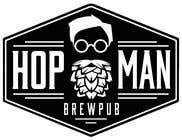 "Graphic Design Intrarea #6 pentru concursul ""As you can see, we have a logo, but we need to change the slogan of it and some words. Instead of Hop Doc  - we want it to be Hop Man. And slogan should be Brewpub. If we will like your style - we will work a lot in the future!"""