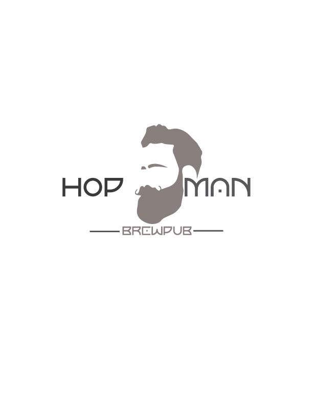 "Intrarea #17 pentru concursul ""As you can see, we have a logo, but we need to change the slogan of it and some words. Instead of Hop Doc  - we want it to be Hop Man. And slogan should be Brewpub. If we will like your style - we will work a lot in the future!"""
