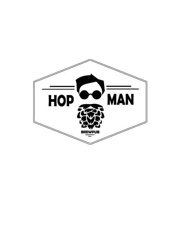 "Intrarea #31 pentru concursul ""As you can see, we have a logo, but we need to change the slogan of it and some words. Instead of Hop Doc  - we want it to be Hop Man. And slogan should be Brewpub. If we will like your style - we will work a lot in the future!"""