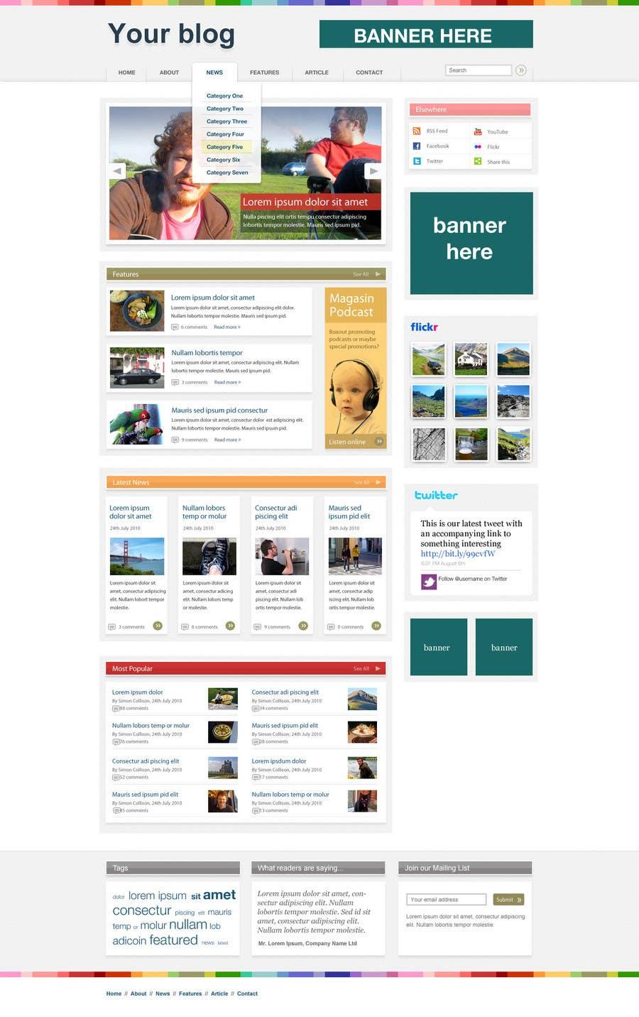 Penyertaan Peraduan #                                        9                                      untuk                                         Wordpress Theme Design for blog of Email Marketing