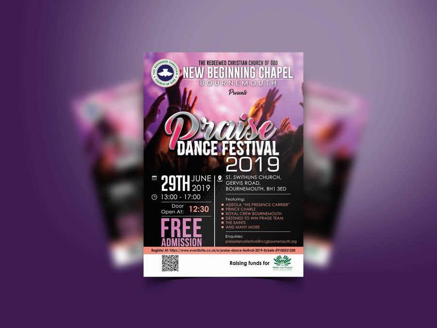 Inscrição nº 50 do Concurso para Make me a Flyer for Praise Dance 2019