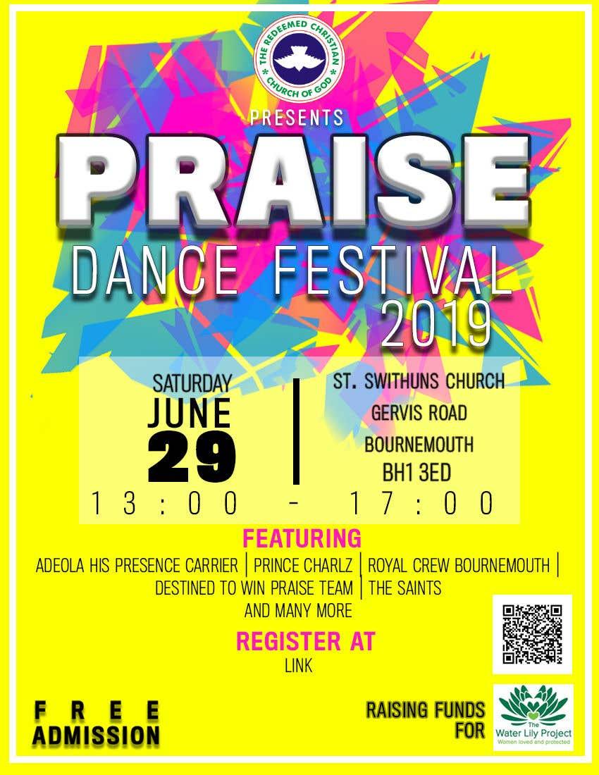Inscrição nº 49 do Concurso para Make me a Flyer for Praise Dance 2019