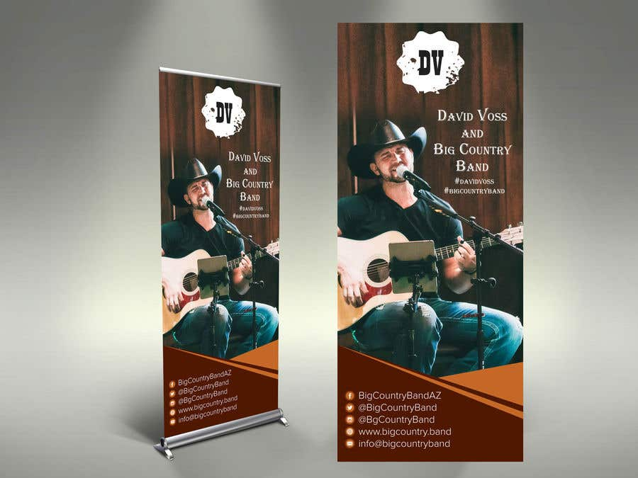 Contest Entry #28 for Vertical Banner Signage for Country Band