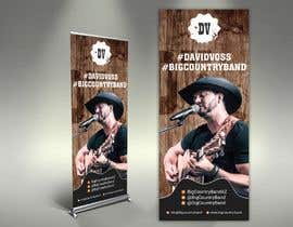 #30 untuk Vertical Banner Signage for Country Band oleh alomgirdesigner