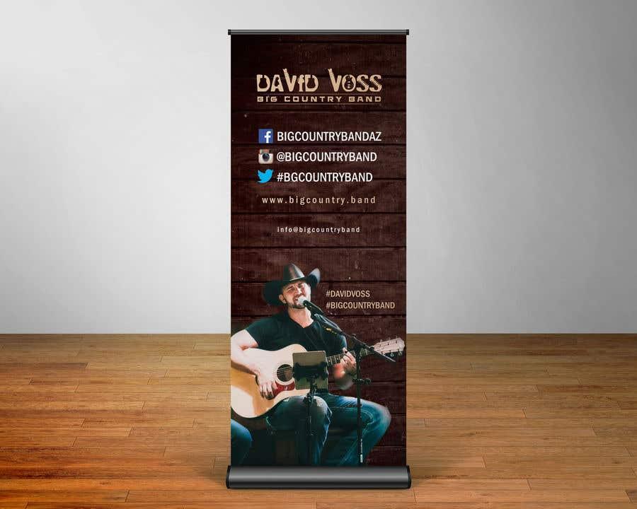 Конкурсная заявка №32 для Vertical Banner Signage for Country Band