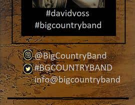 nº 26 pour Vertical Banner Signage for Country Band par WishWorking