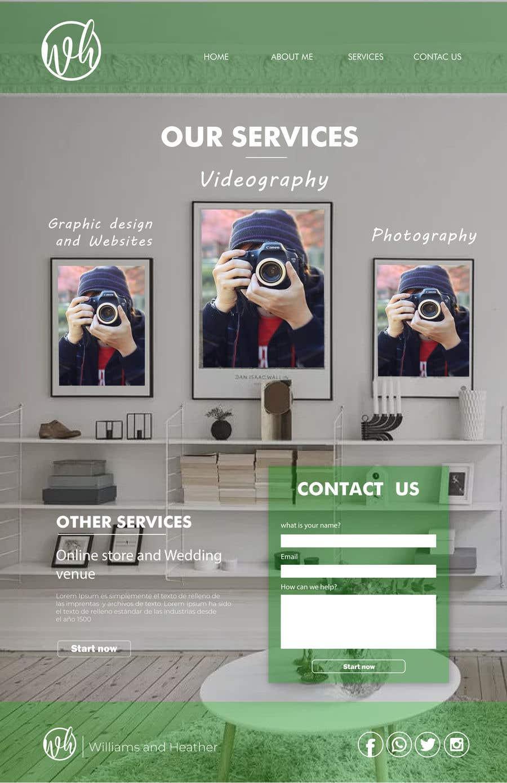 Kilpailutyö #51 kilpailussa Design Clean, Minimalist, Professional Website Layout and Logo