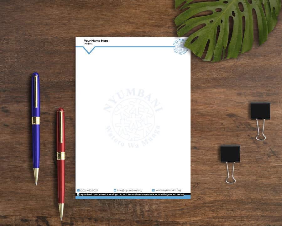 Penyertaan Peraduan #377 untuk design letterhead