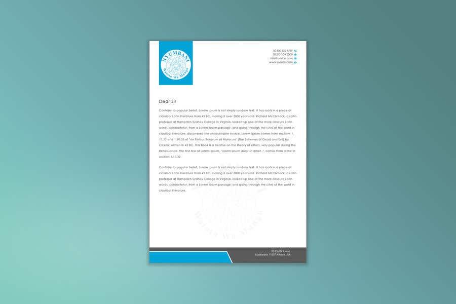 Penyertaan Peraduan #390 untuk design letterhead