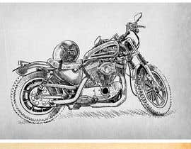 #12 for 5 drawings made in crosshatching technique in black with one accent color in adobe illustrator or similar, for tshirts approx size 12-13 x 6-8 inches, the drawing of vehicle only or vehicle and driver or vehicle and element(tree, post, helmet, etc). by paezmiguel569