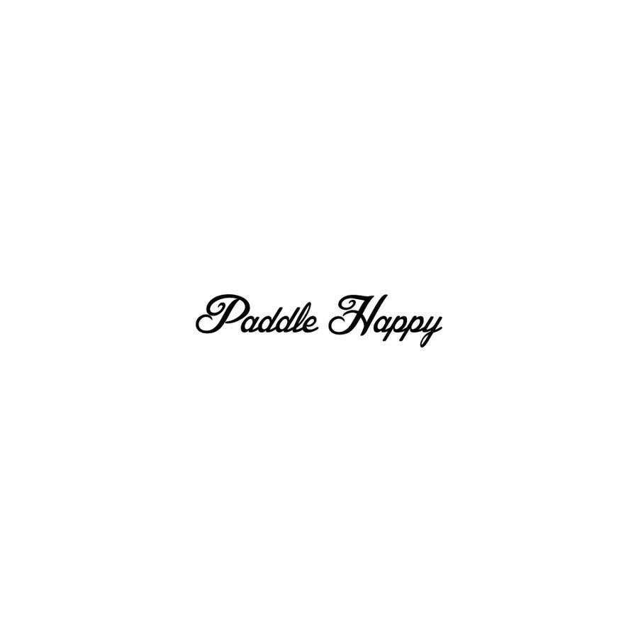 """Contest Entry #60 for I need a logo fun and outdoorsy something both male and females would like to wear on cap, etc my sports brand name """"Paddle Happy"""""""