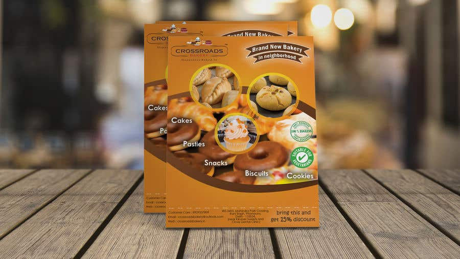 Penyertaan Peraduan #35 untuk Need a flyer for a new opening of a Bakery outlet