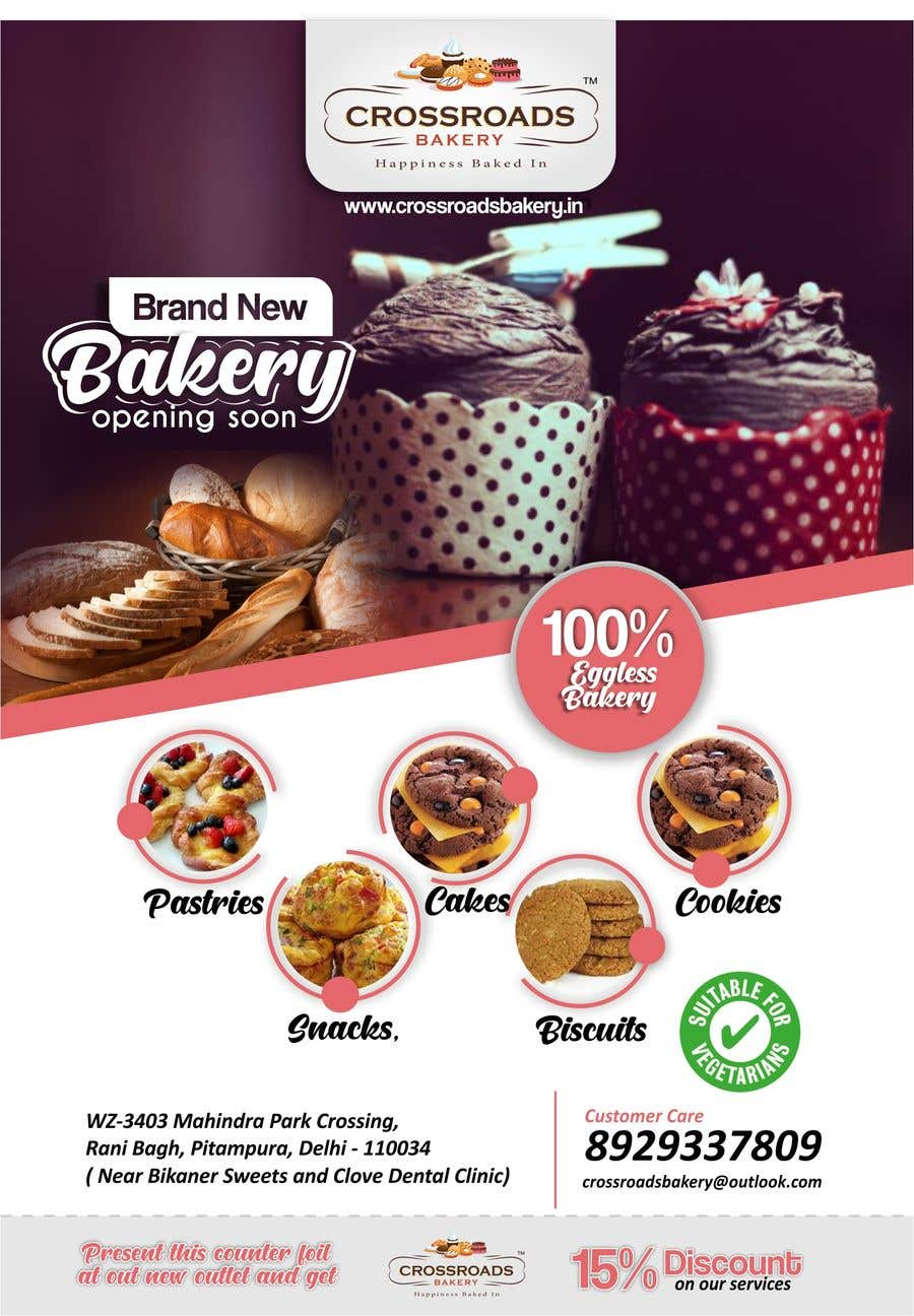 Конкурсная заявка №15 для Need a flyer for a new opening of a Bakery outlet