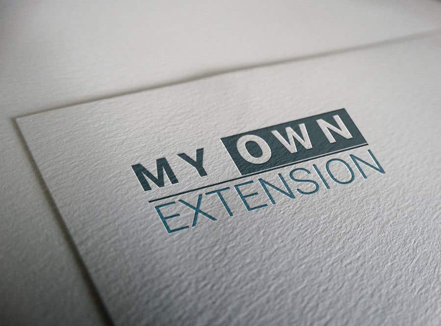 "Contest Entry #9 for Create a Logo For ""My Own Extension"" word"