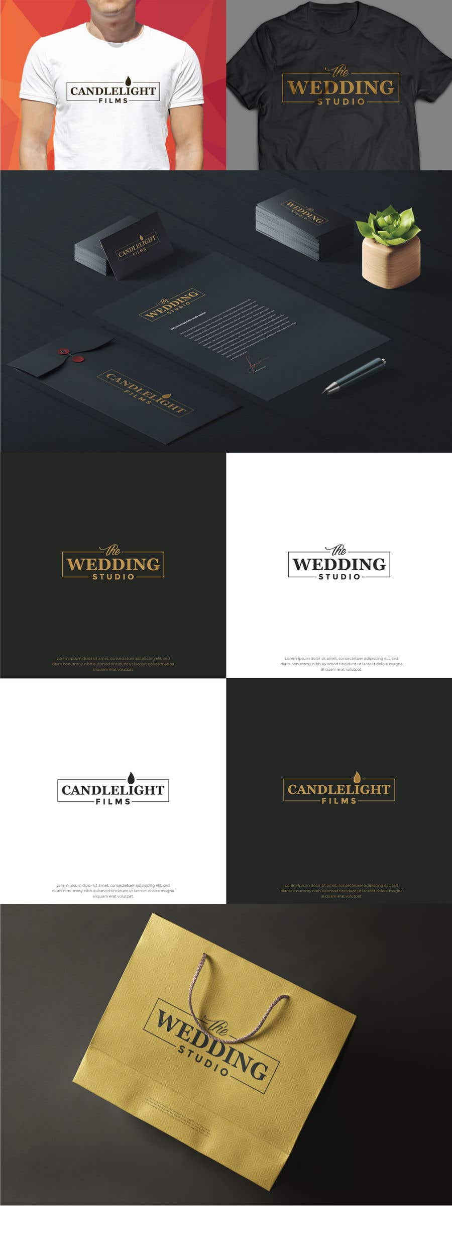 Penyertaan Peraduan #106 untuk Design 2 logos and corporate packs for each