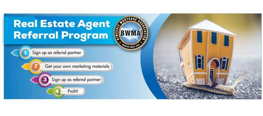 "Kilpailutyö #64 kilpailussa Need website banner for ""Real Estate Agent Referral Program"""