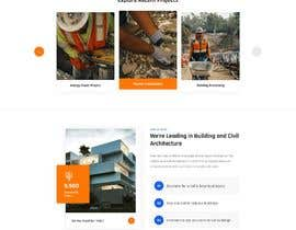 nº 44 pour Design a new homepage for a construction company. par webzonebd