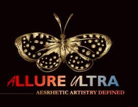 #14 for upscale beauty comp. love butterfly and Allure Ultra font but thicker/bold.would like the A and U in Allure Ultra to be elegant cursive font.slogan's font to be an elegant/easy to read font.colors royal blue and gold.more space between sloganandcomp name by eclipssazzad11