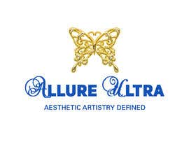 #4 for upscale beauty comp. love butterfly and Allure Ultra font but thicker/bold.would like the A and U in Allure Ultra to be elegant cursive font.slogan's font to be an elegant/easy to read font.colors royal blue and gold.more space between sloganandcomp name by uniquemind290