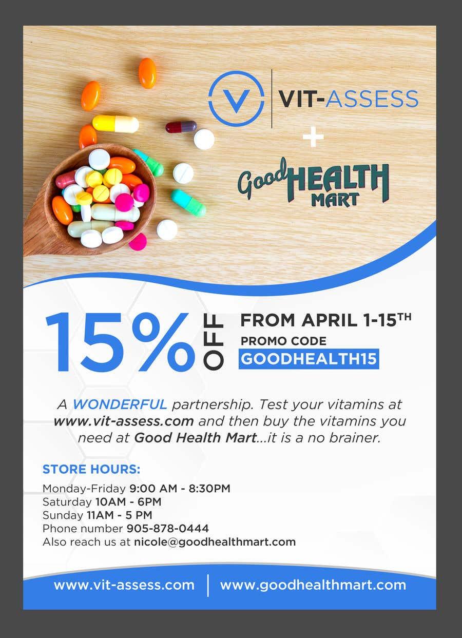 Inscrição nº 50 do Concurso para Advertisement for Health Store flyer