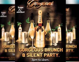 Nro 37 kilpailuun Flyer Design for brunch party käyttäjältä moslehu13