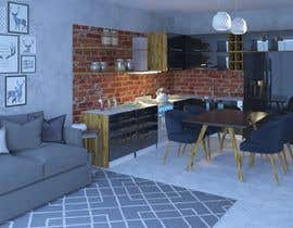 #23 untuk Modern kitchen design, with elements of loft style. oleh emadbahgat888