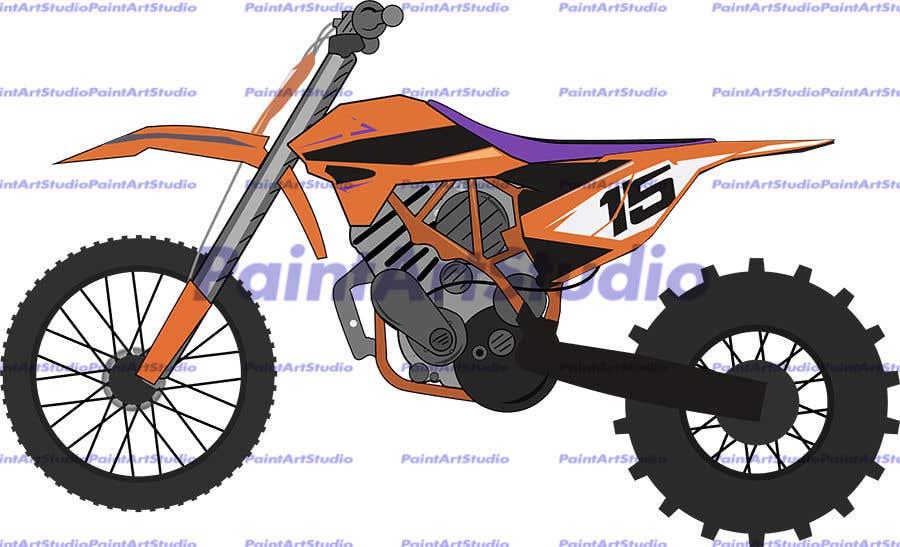 Kilpailutyö #3 kilpailussa Illustration Motorbike