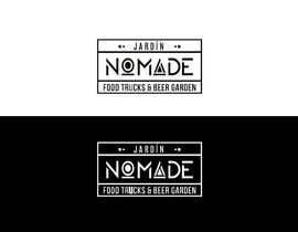 """#37 cho A partir del logo adjunto debe crear uno que incluye todo menos """"nro.170"""", """"mallinkrodt"""" cambia por """"nomade"""", """"craft beer"""" cambia por """"beer garden"""" es decir, incluir: jardin, Nomade, food trucks & beer garden bởi ydantonio"""