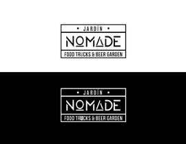 """#43 cho A partir del logo adjunto debe crear uno que incluye todo menos """"nro.170"""", """"mallinkrodt"""" cambia por """"nomade"""", """"craft beer"""" cambia por """"beer garden"""" es decir, incluir: jardin, Nomade, food trucks & beer garden bởi ydantonio"""